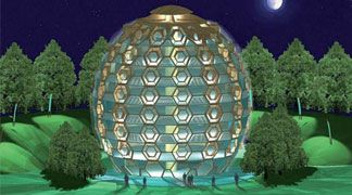 Da Archingegno l'edificio ad impatto zero che sembra un uovo
