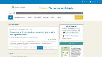 Sistema Sicurezza Ambiente: il nuovo quotidiano online di informazione e aggiornamento